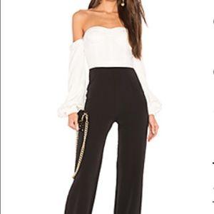 NBD Black & White Jumpsuit